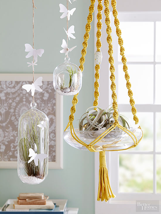 macrame hanging plants