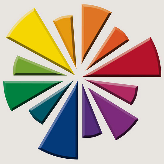 Color wheel, garden color combinations