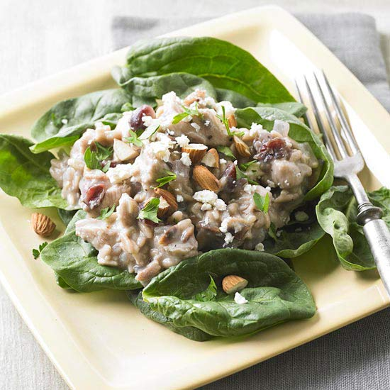Turkey Orzo with Dried Cherries and Feta Cheese