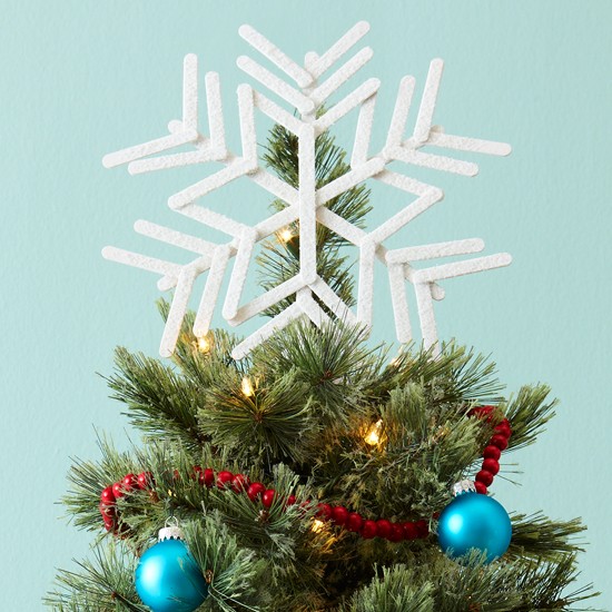 Popsicle-Stick Snowflake Tree Topper