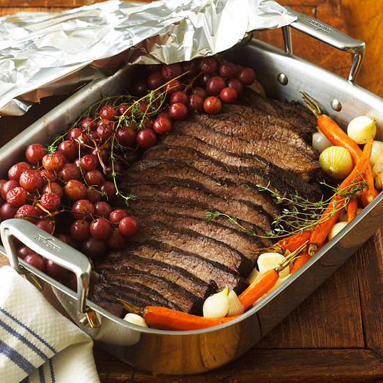 Beef Brisket with Roasted Grapes