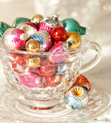Ornaments in teacup