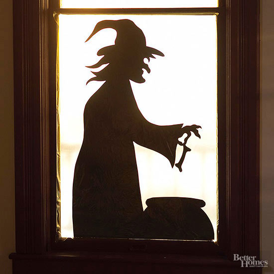 Witch at the Window Silhouette