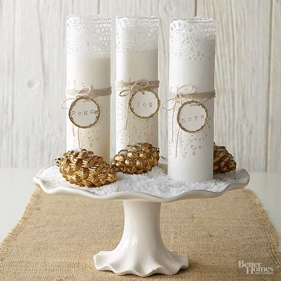 Merry Message Candles