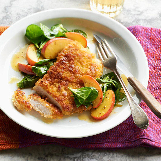 Pork Chops, Apples, and Greens