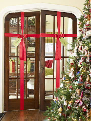 Gift wrapped doors