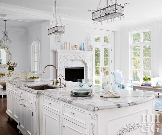 Open Kitchen with Ornate Details