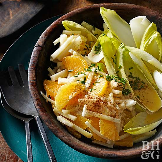 Jicama and Belgian Endive Salad with Tequila-Orange Vinaigrette