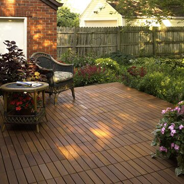 Like Putting Together An Easy Puzzle These Modular Wooden Decking Squares Snap Into Place Available In Four Wood Types This New Deck Will Stand Up For