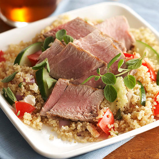 Quinoa Salad with Seared Tuna