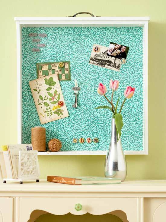 Classic Drawer Bulletin Board