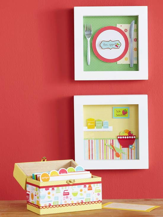 Recipe Box and Wall Decor