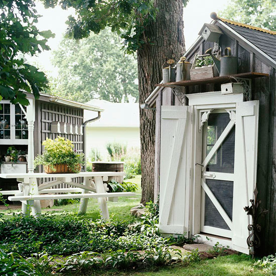 Playhouse Turned Potting Shed
