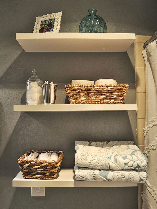 Open Shelves for Storage