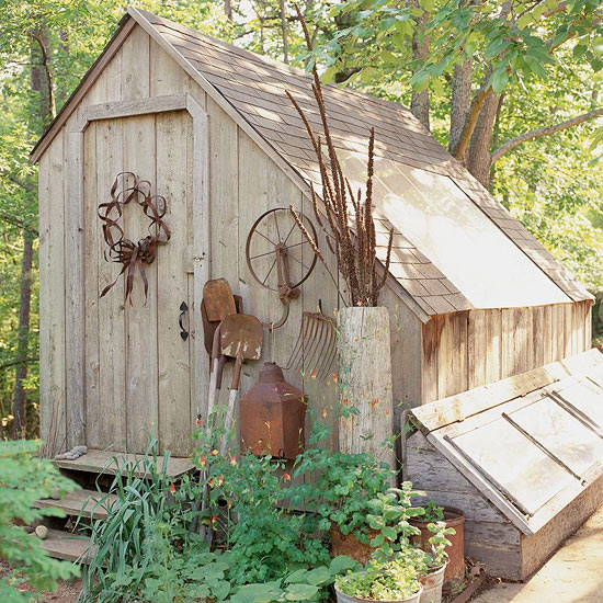 Saltbox Potting Shed