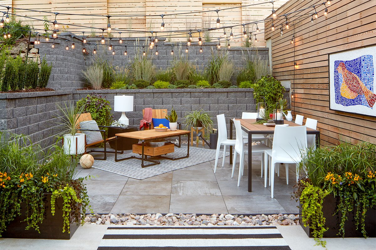 Hang String Lights with Poles | Better Homes & Gardens