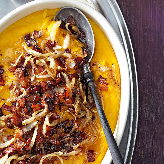 Butternut Squash Maple Bacon Casserole