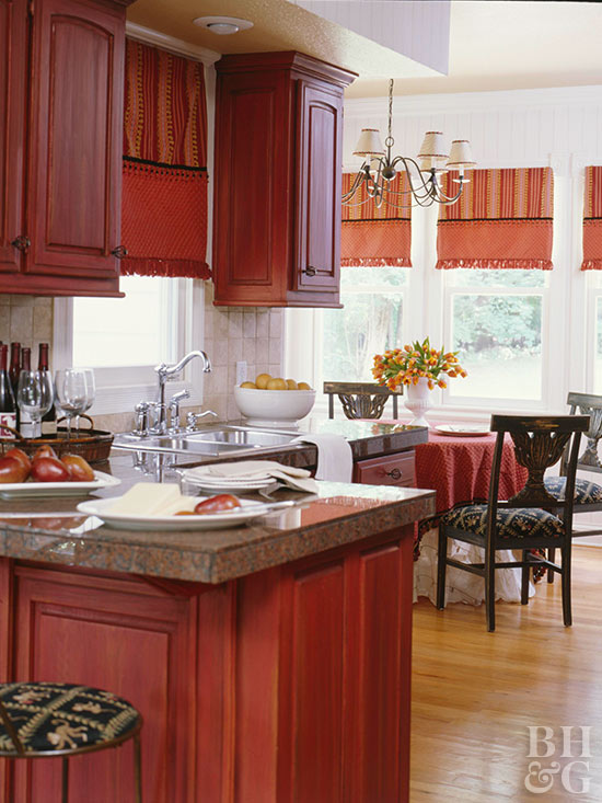 kitchen cherry wood cabinets