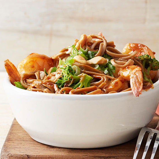 Gluten Free Shrimp and Soba Noodles