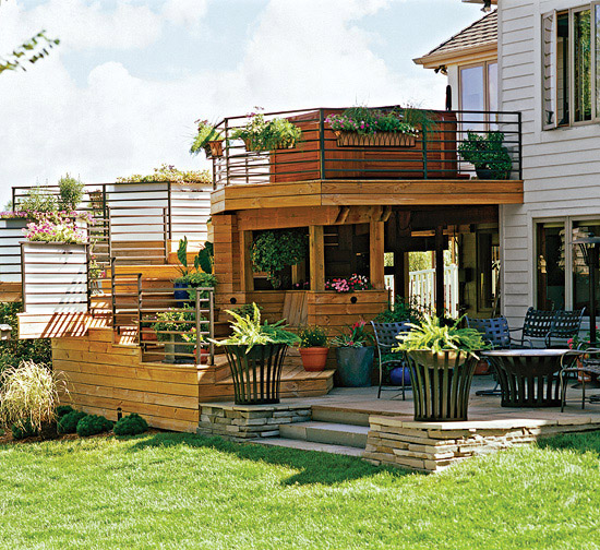 Multilevel Outdoor Room