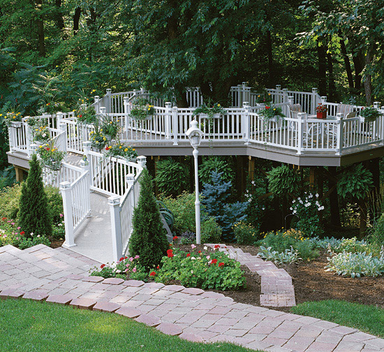 Eclectic Raised Deck