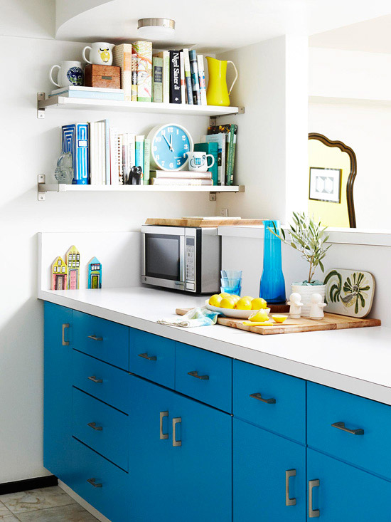 Laminated or painted countertops