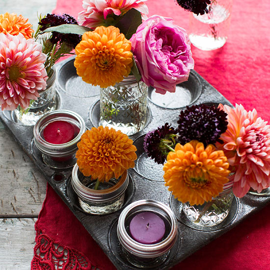 Muffin Tin Centerpiece