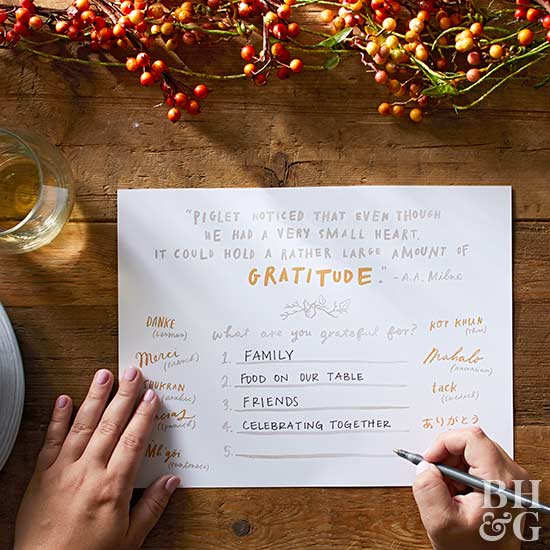 thanksgiving grateful project placemat