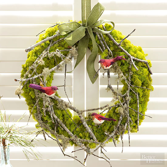 Homemade Forest Wreath