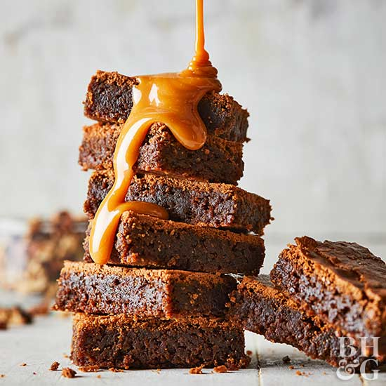 Caramel Drizzle Brownies