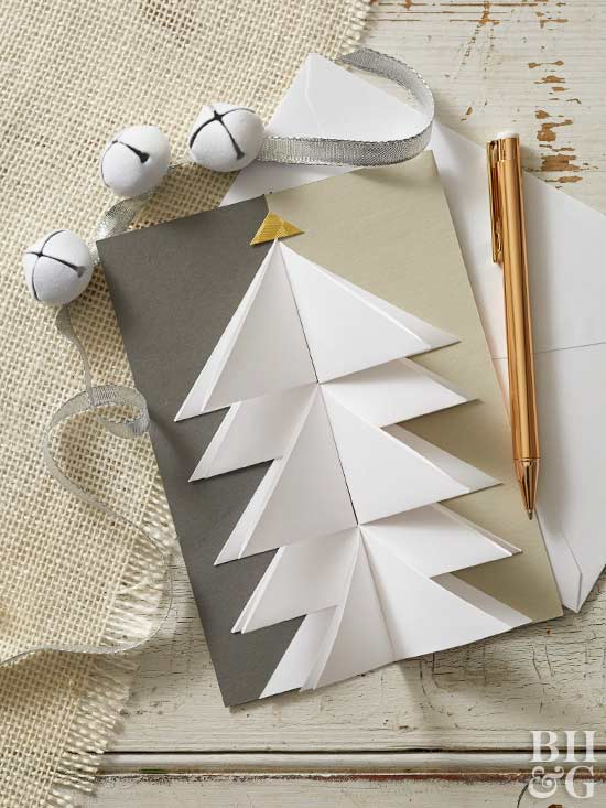 paper christmas tree pop-up card