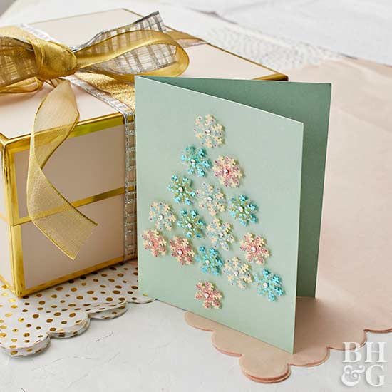 snowflake greeting card project