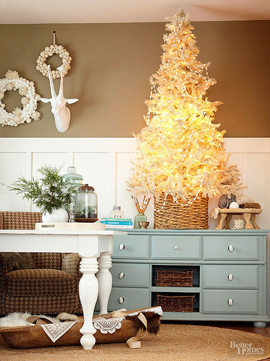 Dazzling White Tabletop Christmas Tree