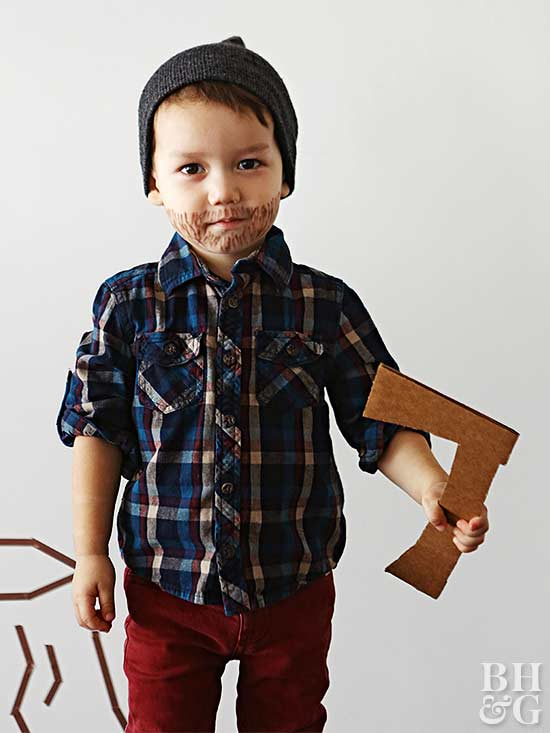 child halloween costume lumberjack