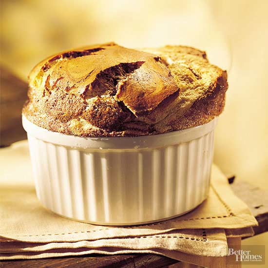 Swirled Chocolate and Peanut Butter Souffle