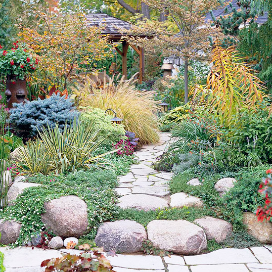 Flagstone Path Leads to a Private Escape