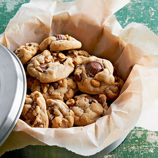 Triple-Peanut and Chocolate Chip Cookies