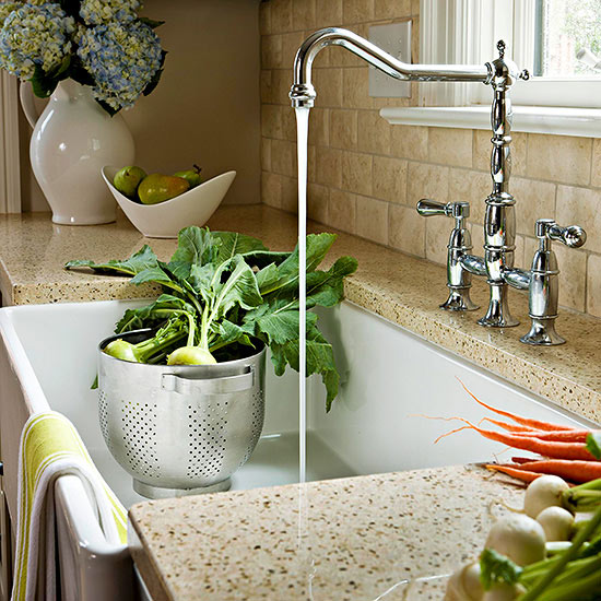 Farmhouse Sink for a Cook's Kitchen