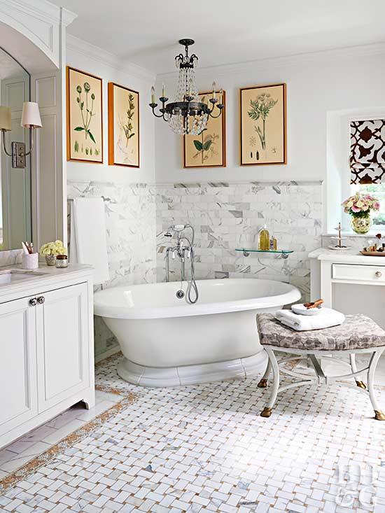 traditional master bath