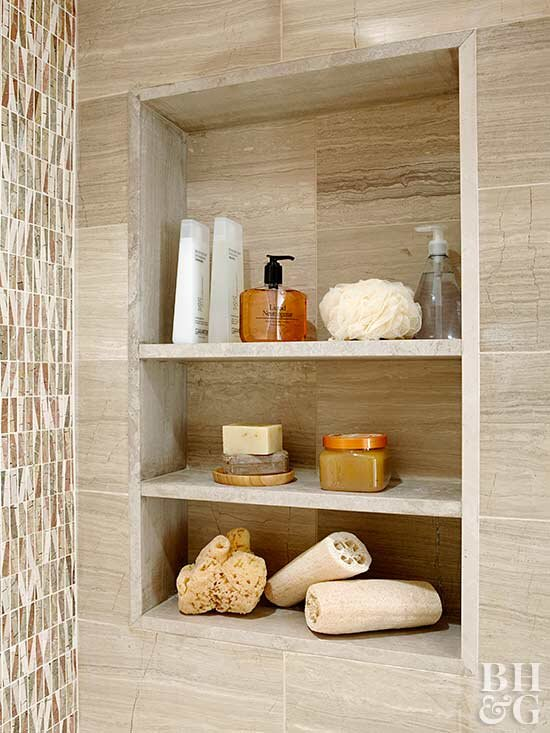How To Build A Recessed Wall Shelf Better Homes Gardens