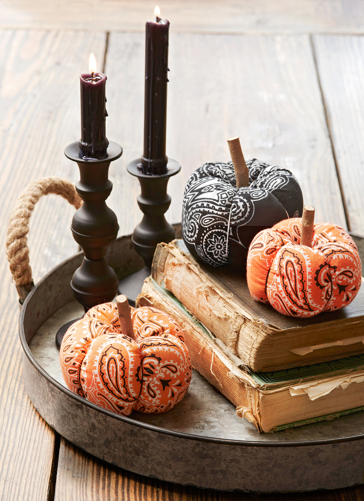 Patterned Pumpkin Table Decor