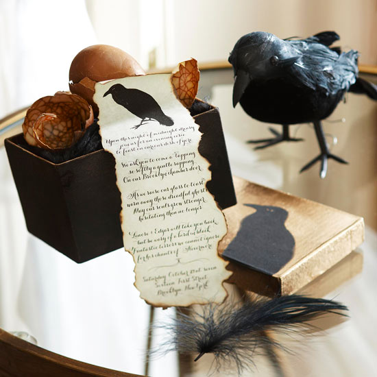 Raven Silhouetted Invitation and Box