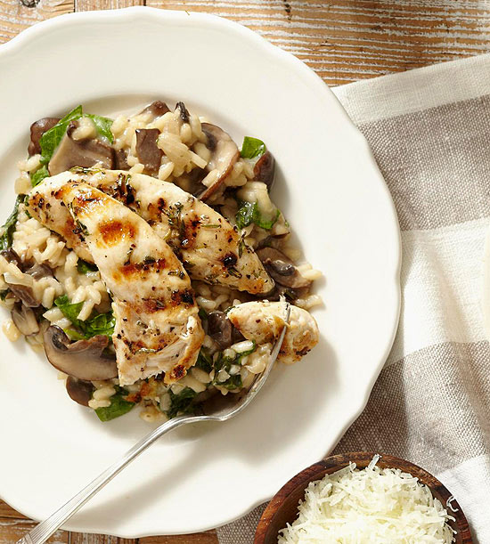 Chicken with Marsala Risotto
