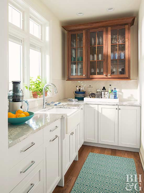Mixing Kitchen Cabinet Materials Better Homes Gardens