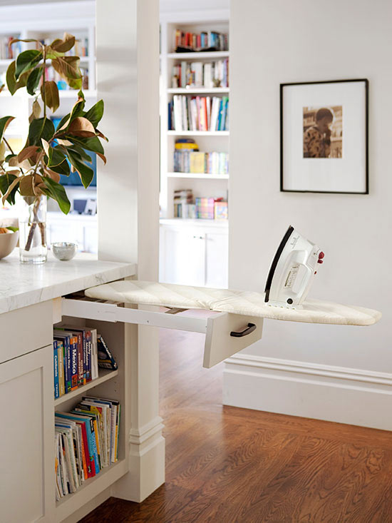 ironing board storage