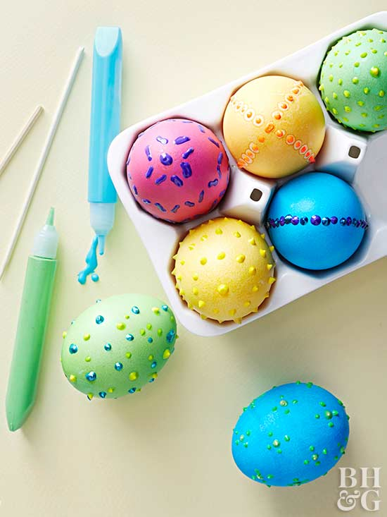 Puff Paint Easter Eggs