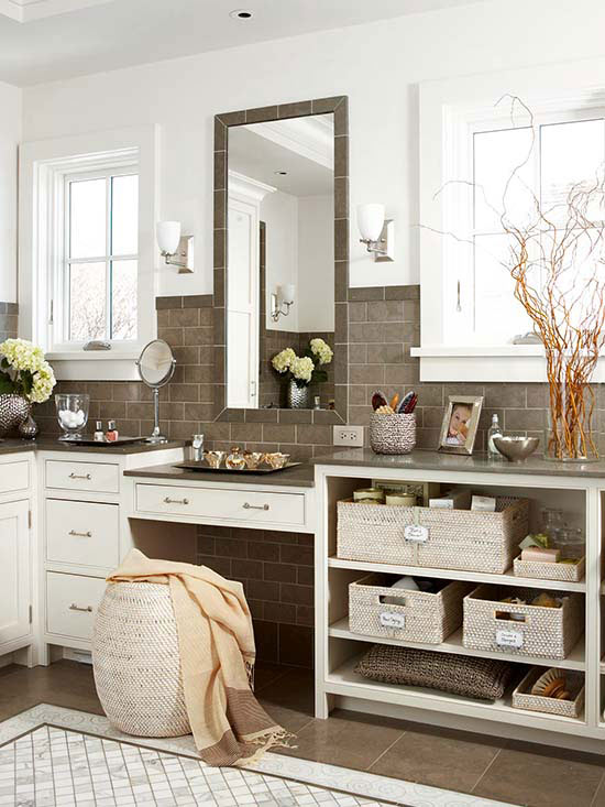 Stylish Bath Storage