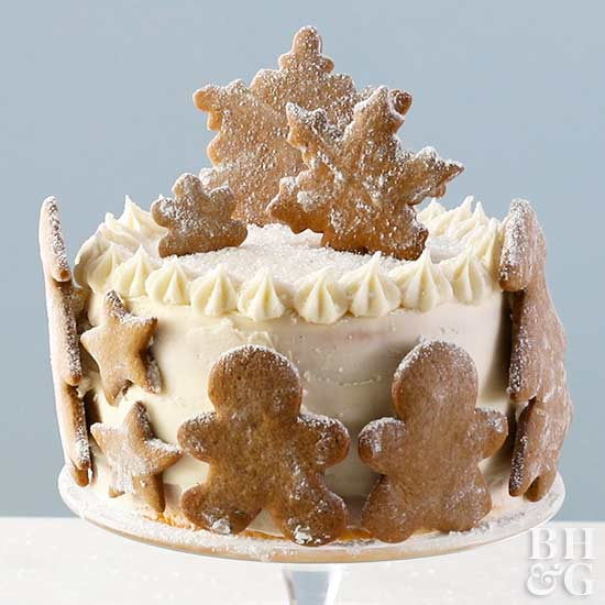 Gingerbread Cookie Cake, cake, gingerbread, frosting