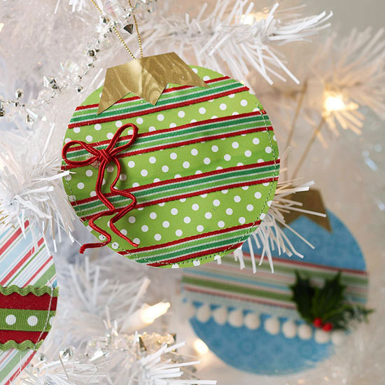 Decorated Paper Ornament,