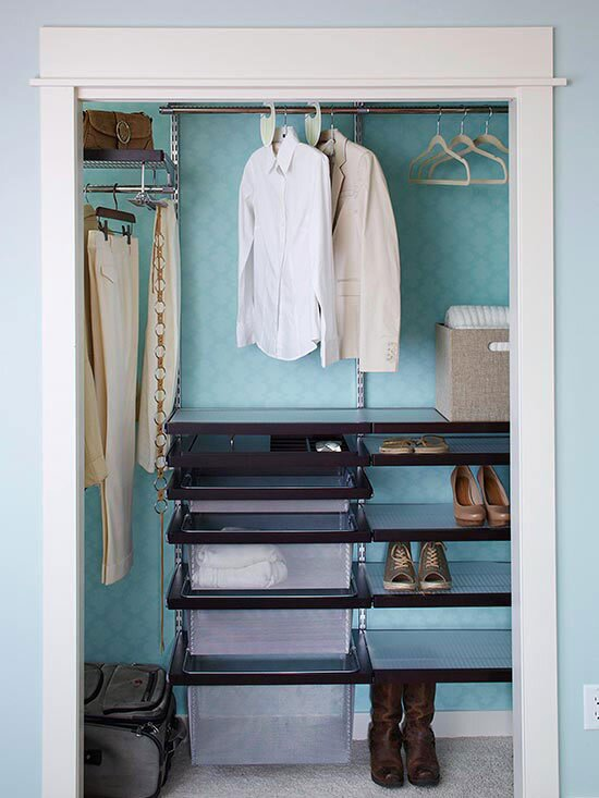 Help A Small Closet More By Installing Wire System Rubber Coated Shelving Is Available From Variety Of Retaileranufacturers